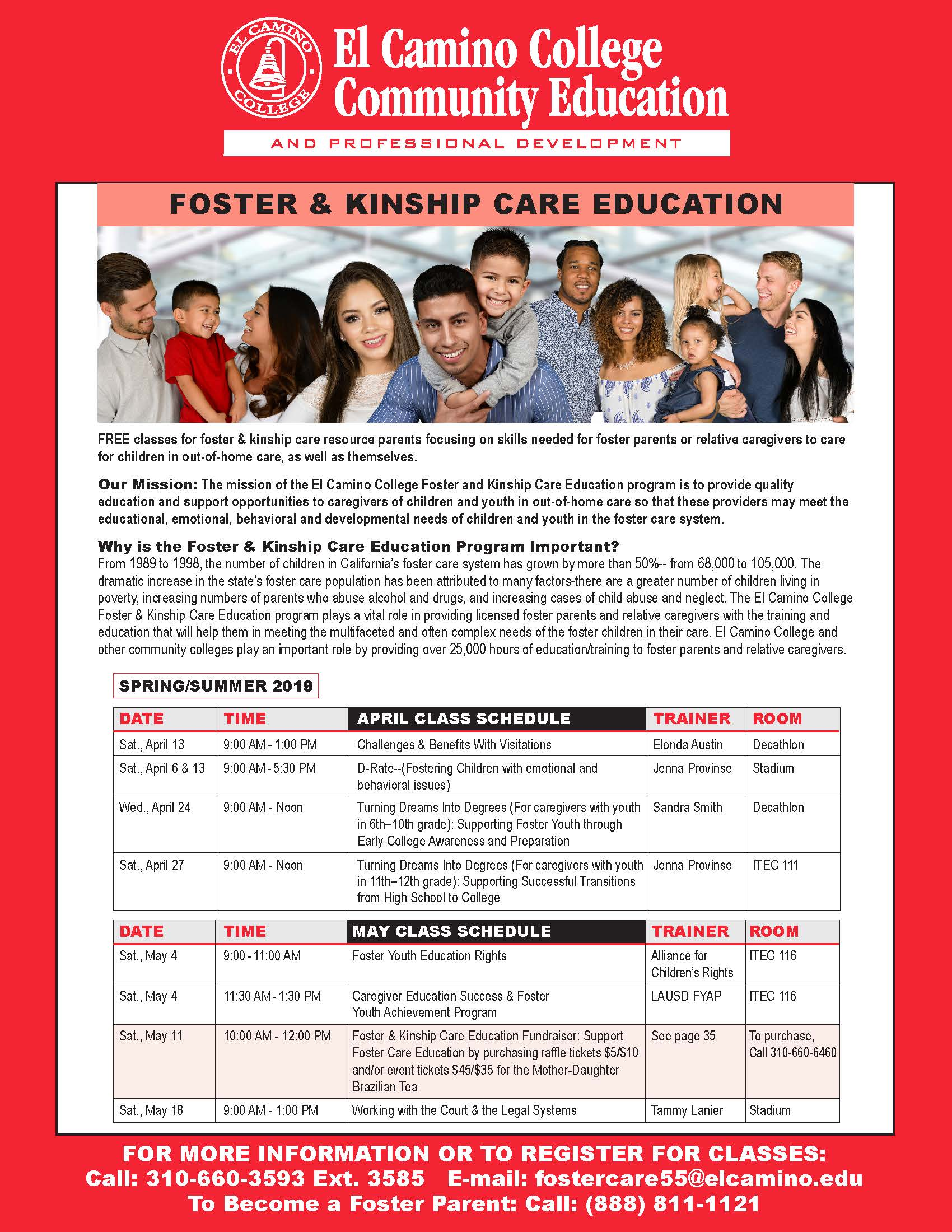 Foster & Kinship Care - Courses - El Camino College Community Education